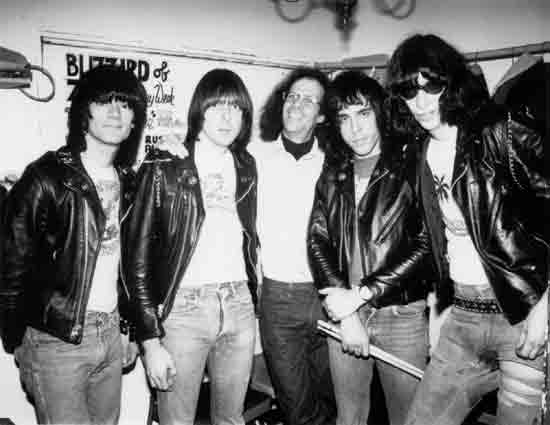 Gary Storm with the Ramones