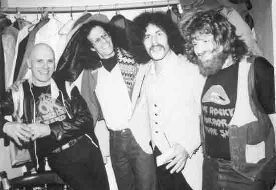 "Gary with Ed Cassidy, Randy California, and Larry ""Fuzzy"" Knight of Spirit"